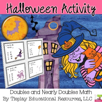 Halloween Bubbles and Hisses Doubles or Nearly Doubles Math