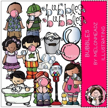 Melonheadz: Bubbles clip art - COMBO PACK