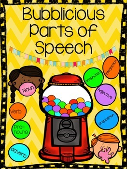 Bubblicious Parts of Speech Practice