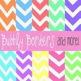 Bubbly Pastel Chevron Digital Scrapbook Backgrounds- Comme