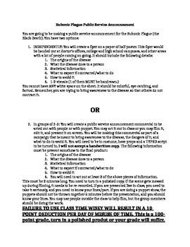 Bubonic Plague Public Service Announcement
