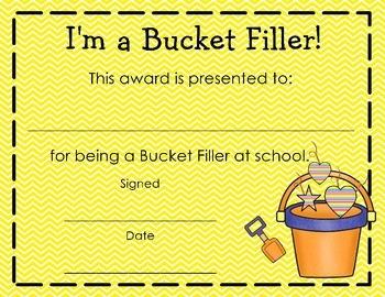 Beginning of the Year - Bucket Filler Bundle {Chevron theme}