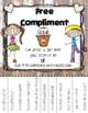 "Bucket Filler ""Free Compliment"" Flyer"