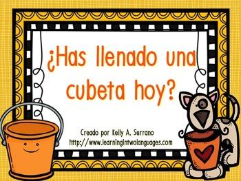 Bucket Fillers in Spanish / ¿Has llenado una cubeta hoy?