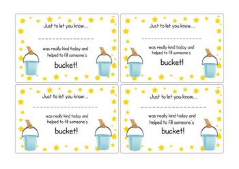 Bucket filling certificates
