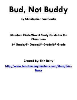 Bud, Not Buddy Literature Circle/Novel Study Guide