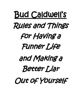 Bud, Not Buddy: Rules and Things
