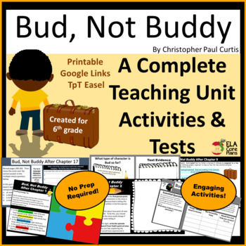 Bud, Not Buddy Teaching Unit ~Activities, Lesson Plans, Tests