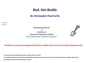 Bud Not Buddy interactive notebook