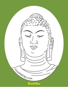 Buddha Clip Art, Coloring Page, or Mini-Poster