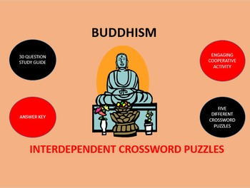 Buddhism:  Interdependent Crossword Puzzles Activity