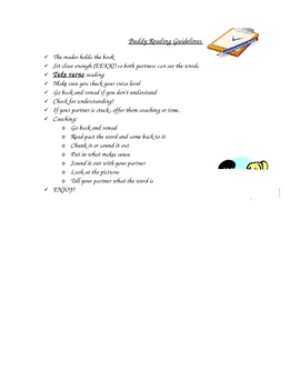 Buddy Reading Guidelines