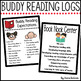 Buddy Reading Logs for Book Nook Center