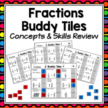 Fractions Games for Partners  -  Skills & Concepts - Revie