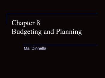 Budgeting and Planning Notes