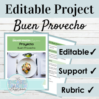 Buen Provecho Spanish Food Review and Commands Project