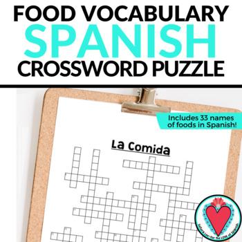 Spanish Food CROSSWORD