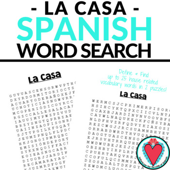 Spanish House WORD SEARCH