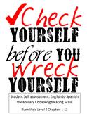 Buen Viaje Level 1 Chapters 1-12 Student Self assessment: