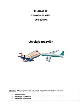 Buen Viaje Level 1 Unit 11 Skeletal Notes (Air Travel Voca