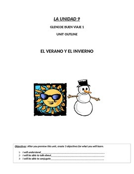 Buen Viaje Level 1 Unit 9 Skeletal Notes (Summer/Winter Vo