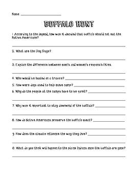 Buffalo Hunt Comprehension Questions