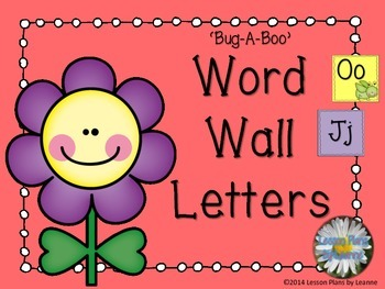 'Bug-A-Boo' Word Wall Letters  Back To School