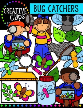 Bug Catchers {Creative Clips Digital Clipart}