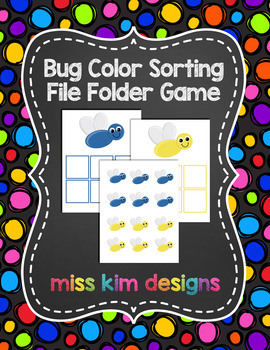 Bug Color Sorting File Folder Game for Early Childhood Spe