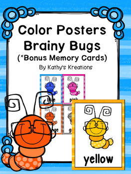 Bug Color Word Posters And Memory Cards