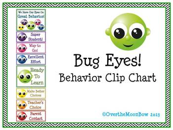 Bug Eyes! Behavior Clip Chart