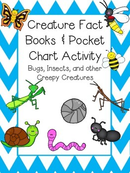 Bug Fact Books and Pocket Chart Activity