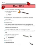 Bug Facts Printable