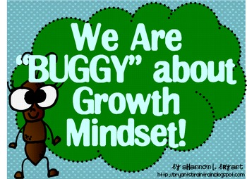 Bug Growth Mindset Posters (Insect Theme)