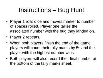 Bug Hunt - Math Game of Tallies & Skip Counting