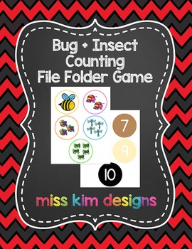 Bug + Insect Counting File Folder Game for students with A