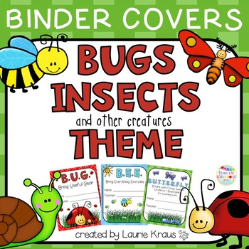 Bug Insect Theme Binder Covers