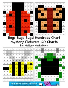 Bug / Insect Themed 120 Chart Mystery Picture
