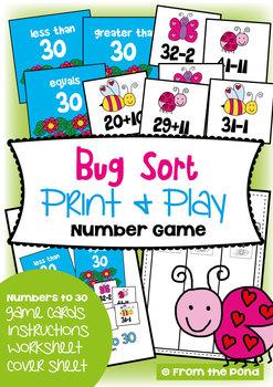 Bug Sort - Math Center Game for Addition Subtraction
