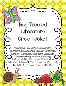 Bug-Themed Literature Circle Packet: Use with Any Book
