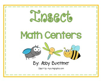 Bug and Insect Math Centers