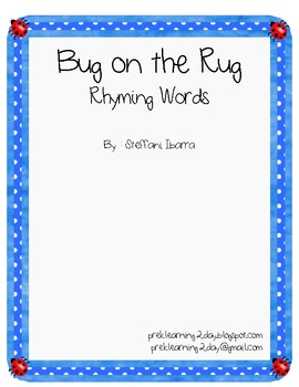 Bug on the Rug Rhyming Words