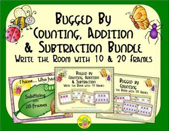 Bugged by Count, Add & Subtract Bundle with 10 & 20 Frames