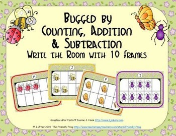 Bugged by Counting, Addition & Subtraction with Ten Frames