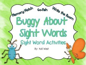Bugs - Sight Word Activities
