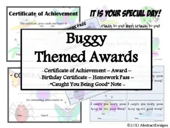 Buggy Awards Set