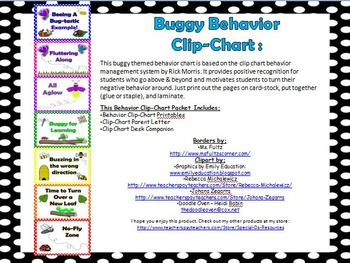 Buggy Behavior Clip Chart with Clip Chart Companion and Pa