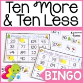 Bug Themed Ten More and Ten Less Bingo