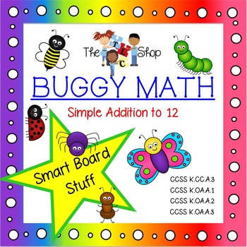 Buggy Math for SmartBoard - Simple Addition to 12