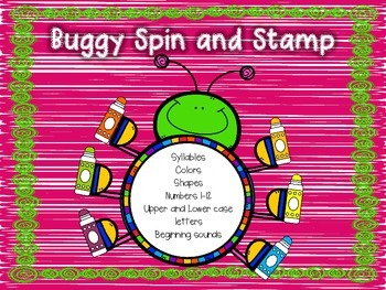 Buggy Spin and Stamp Activities